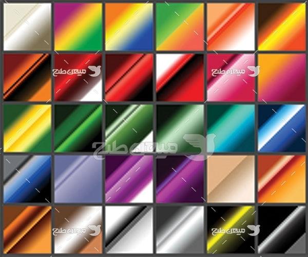 مجموعه ابزارهای فتوشاپ گرادینت طیف رنگ ترکیبی