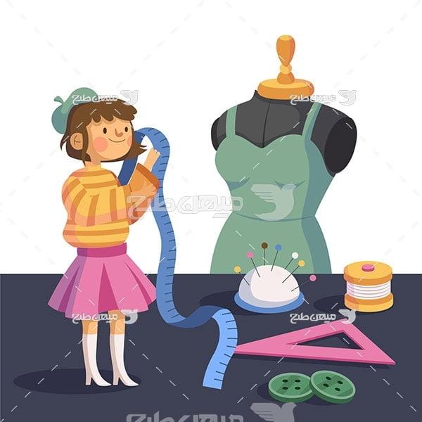 وکتور خیاطی لباس کودک