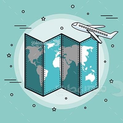 وکتور کاراکتر مسافرت سفر هوایی