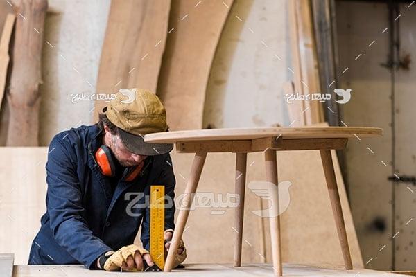 عکس ساخت میز چوبی