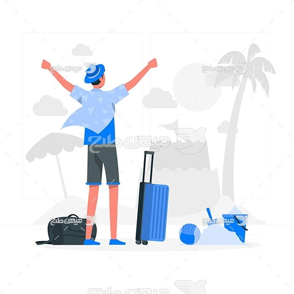 وکتور مسافرت تابستانی