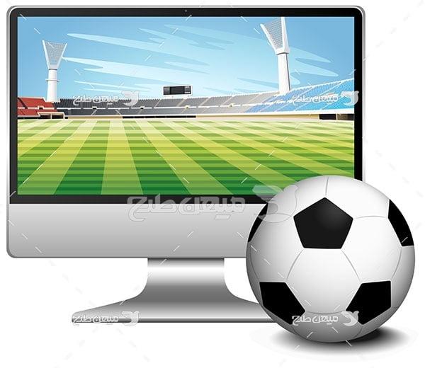 وکتور تماشای فوتبال