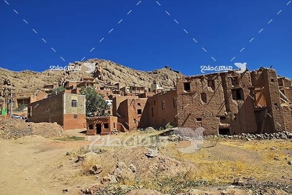 عکس روستایه ابیانه قدیمی اصفهان