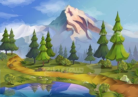 وکتور کاراکتر طبیعت کوهپایه