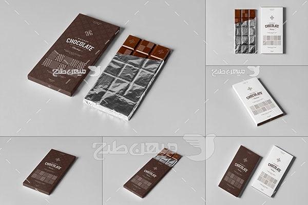 موکاپ شکلات تلخ