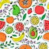 وکتور کاراکتربک گراند طرح میوه