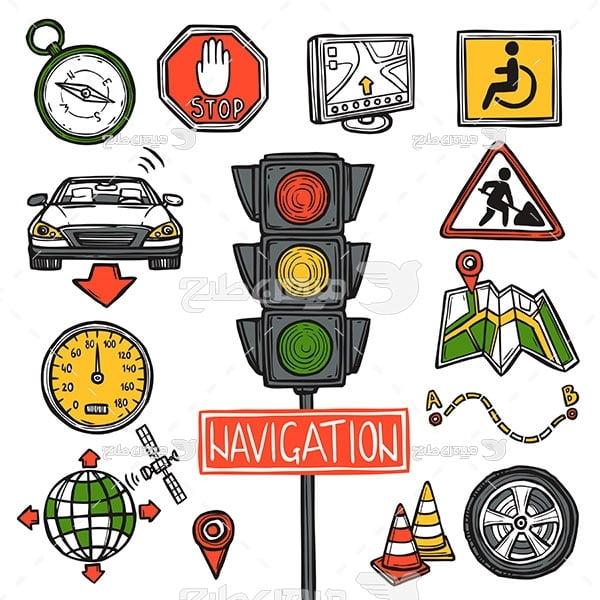 وکتور تابلو و اعلائم رانندگی