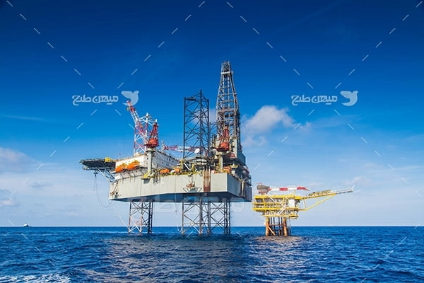 عکس سکوی نفتی بزرگ