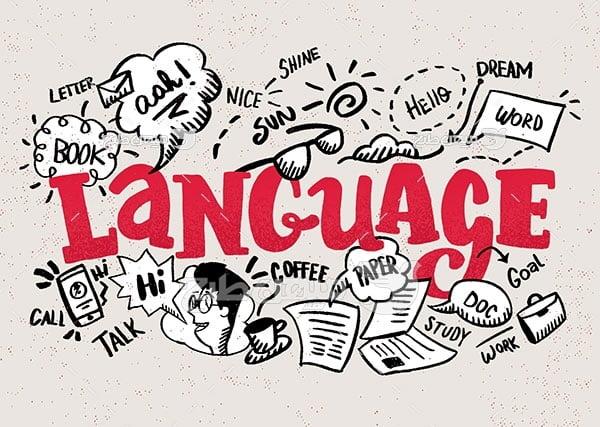 وکتور آموزش زبان