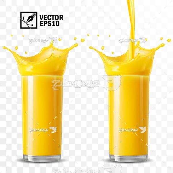 وکتور لیوان آب پرتقال