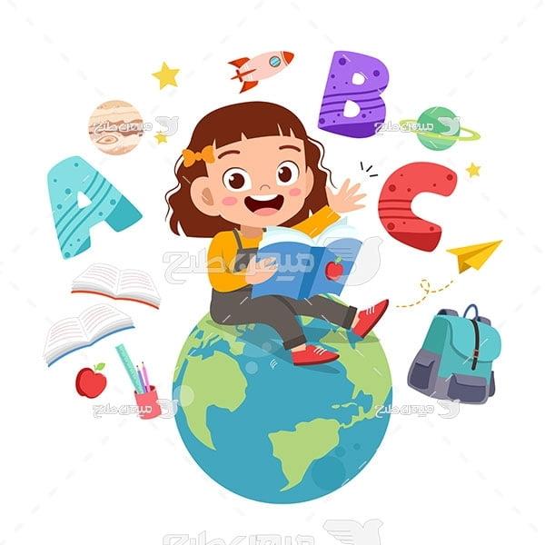 وکتور تدریس زبان به کودکان