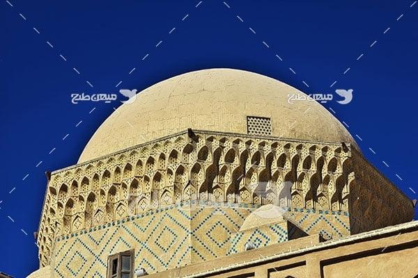 عکس مسجد باستانی شهر یزد