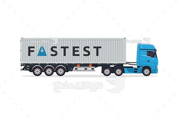 وکتور کامیون تریلی باربری