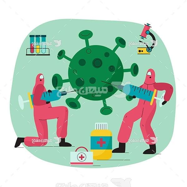 وکتور مبارزه با ویروس کرونا