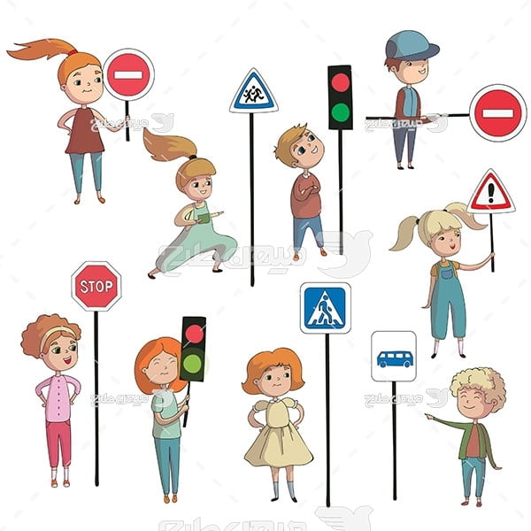 وکتور علائم راهنمایی و رانندگی