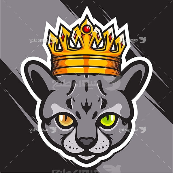 وکتور لوگو گربه شاه