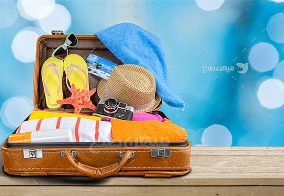 عکس تبلیغاتی مسافرت و چمدان