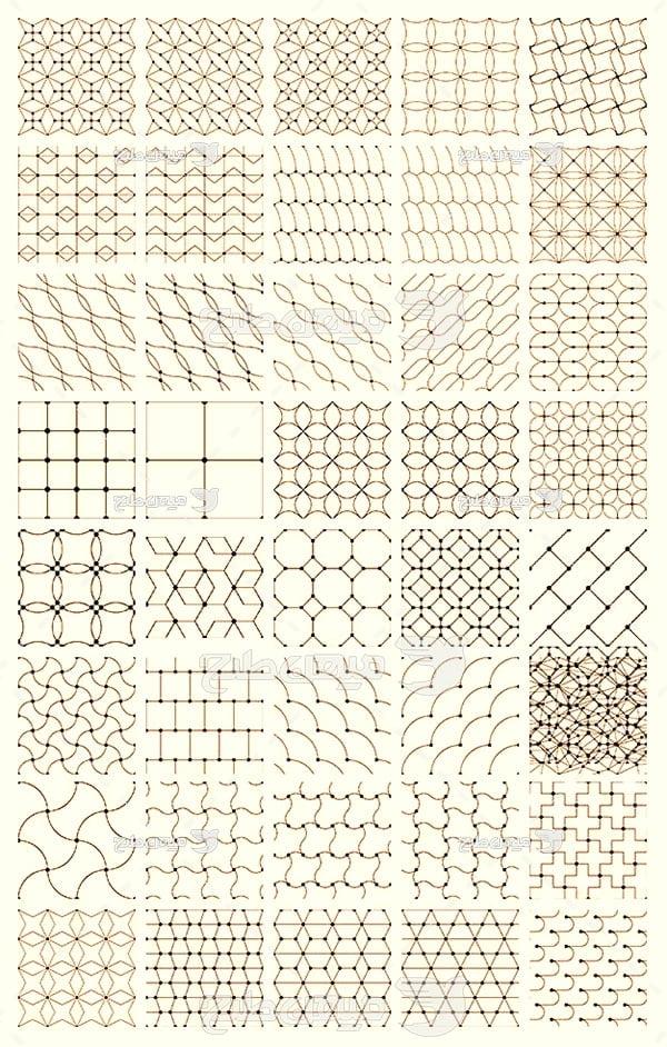 مجموعه ابزارهای فتوشاپ پترن اشکال هندسی