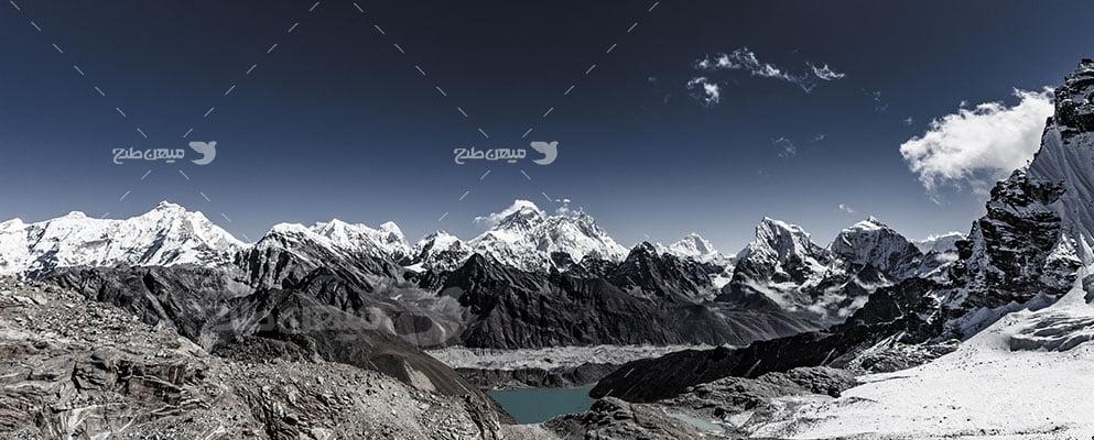 عکس تبلیغاتی طبیعت کوهستان سرد