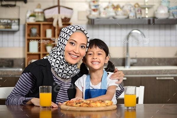 عکس  تبلیغاتی حجاب مادر و دختر