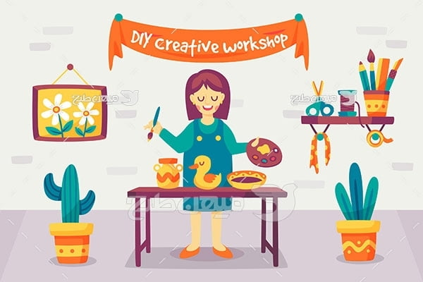 وکتور خلاقیت و کار دستی