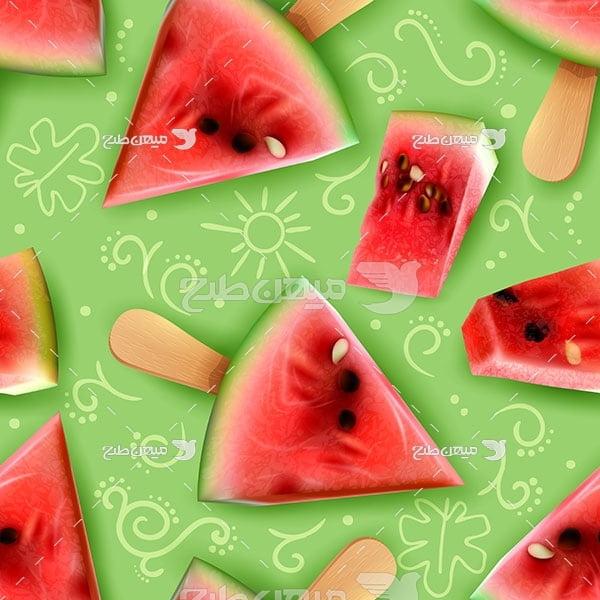 وکتور بستنی هندوانه