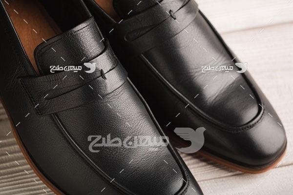 عکس تبلیغاتی مد کفش چرم مردانه