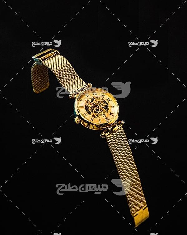 عکس ساعت مچی طلایی