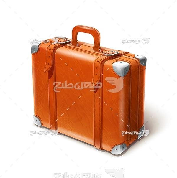 وکتور چمدان چرمی