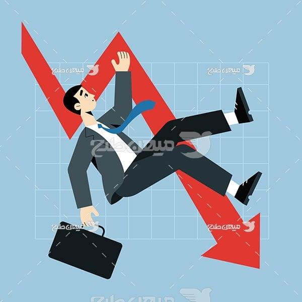 وکتور شکست در بازار بورس