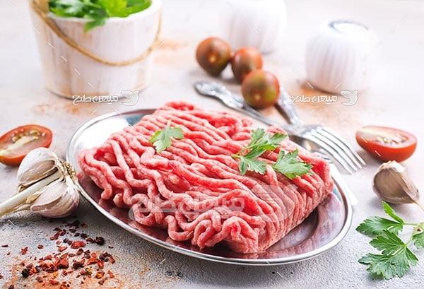 عکس غذا با گوشت چرخ شده