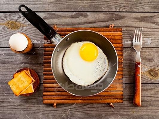 عکس تبلیغاتی غذا نیمرو تازه