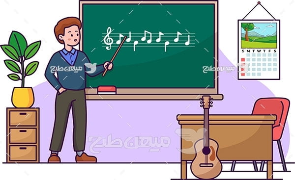 وکتور کلاس آموزش موسیقی