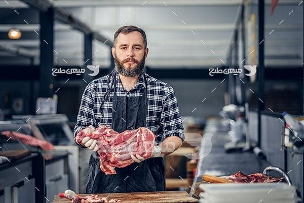 عکس قصابی گوشت