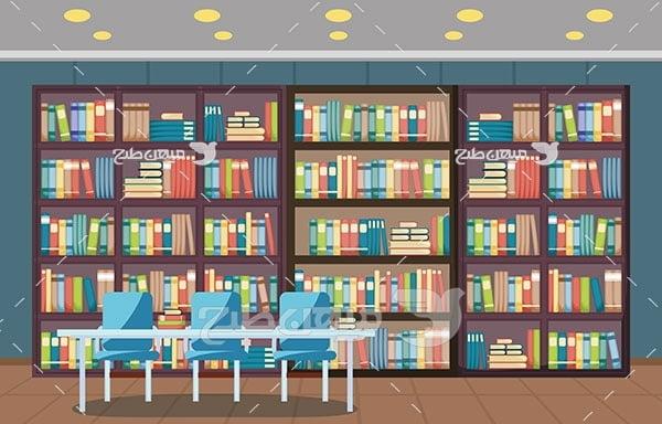 وکتور کتابخانه