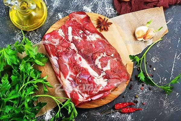 عکس گوشت استیک شده