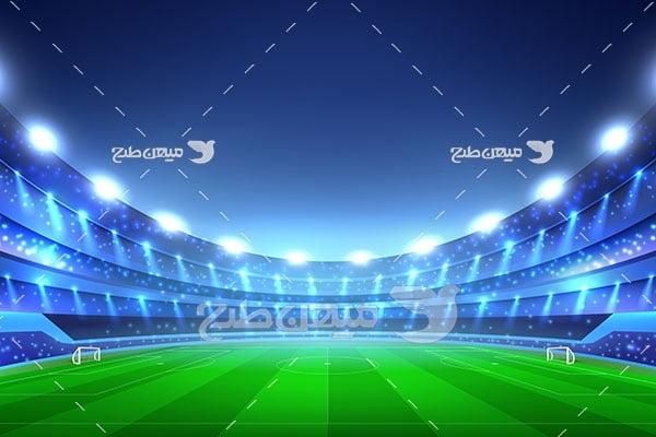 وکتور ورزشگاه فوتبال