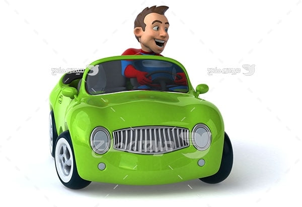عکس آموزش رانندگی با ماشین سبز