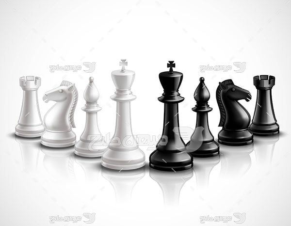 وکتور مهره های شطرنج