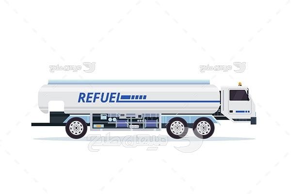 وکتور کامیون حمل سوخت مایع