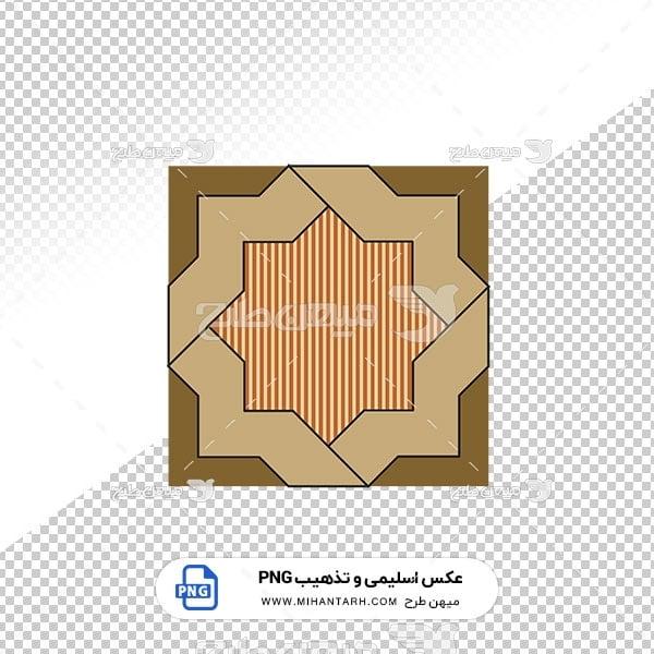 عکس برش خورده اسلیمی و تذهیب حاشیه طرح چند ضلعی
