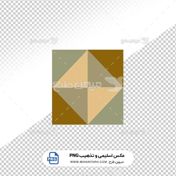 عکس برش خورده اسلیمی و تذهیب حاشیه مربع هندسی