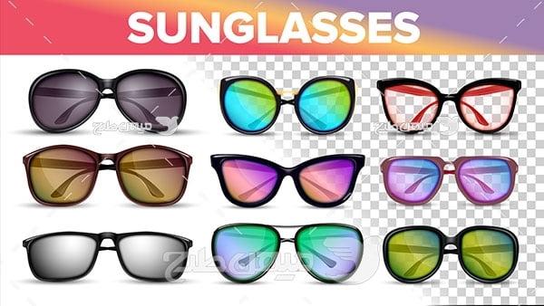 وکتور انواع عینک آفتابی
