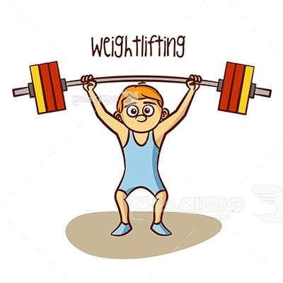 وکتور ورزش وزنه برداری آقایان