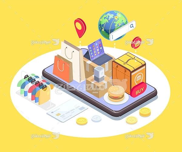 وکتور تجارت آنلاین
