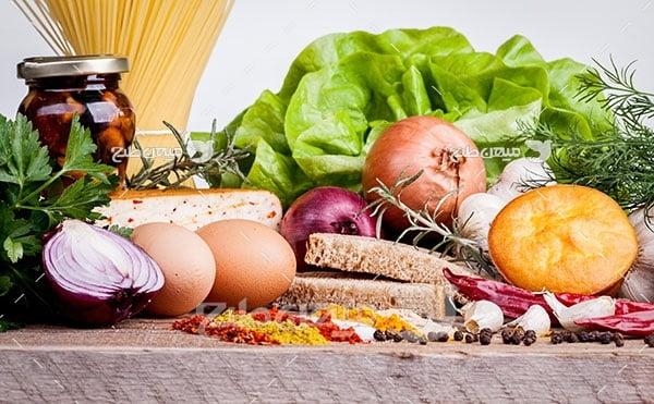 عکس مواد غذایی و سبزیجات