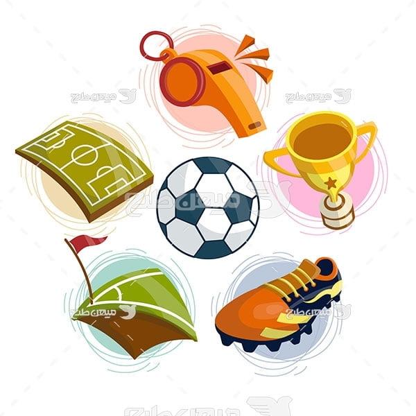 وکتور ایکون نماد فوتبالی
