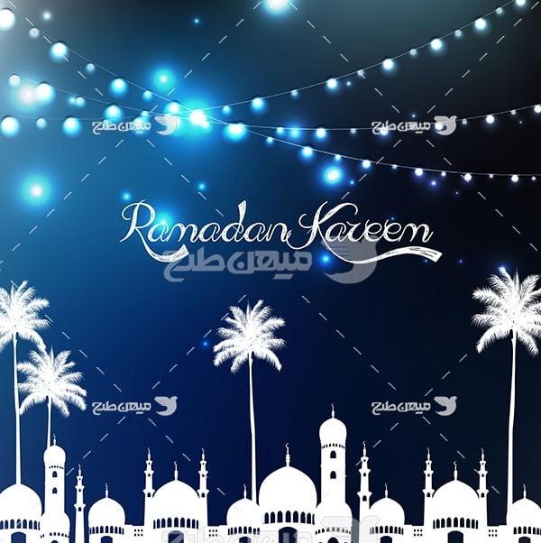 وکتور  ماه رمضان مبارک