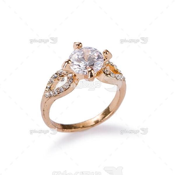 عکس تبلیغاتی جواهرانگشتر الماس نشان