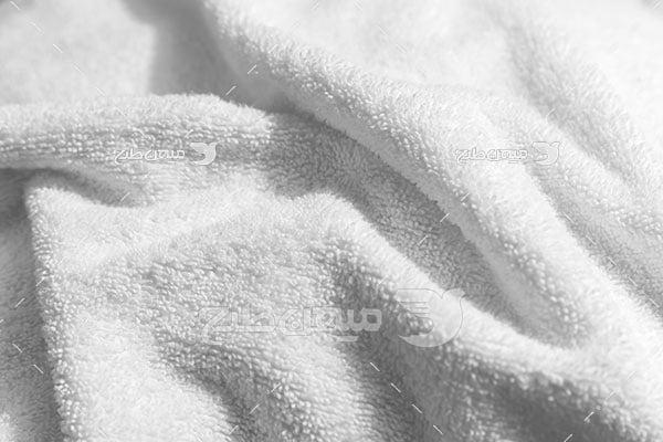 عکس بک گراند طرح پارچه حوله ای سفید